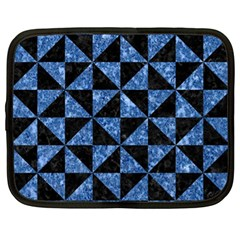 Triangle1 Black Marble & Blue Marble Netbook Case (xl) by trendistuff
