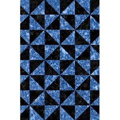 Triangle1 Black Marble & Blue Marble 5 5  X 8 5  Notebook by trendistuff