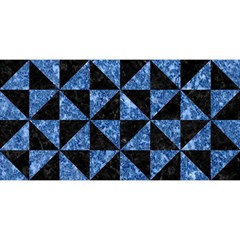 Triangle1 Black Marble & Blue Marble You Are Invited 3d Greeting Card (8x4) by trendistuff