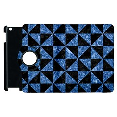 Triangle1 Black Marble & Blue Marble Apple Ipad 3/4 Flip 360 Case