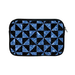 Triangle1 Black Marble & Blue Marble Apple Ipad Mini Zipper Case by trendistuff