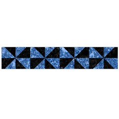 Triangle1 Black Marble & Blue Marble Flano Scarf (large) by trendistuff