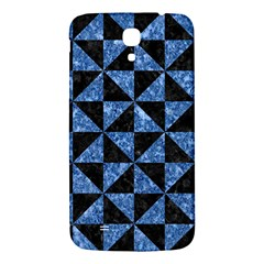 Triangle1 Black Marble & Blue Marble Samsung Galaxy Mega I9200 Hardshell Back Case by trendistuff