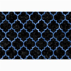 Tile1 Black Marble & Blue Marble (r) Collage 12  X 18