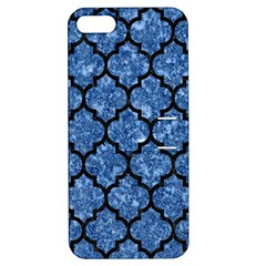 Tile1 Black Marble & Blue Marble Apple Iphone 5 Hardshell Case With Stand by trendistuff