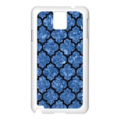 Tile1 Black Marble & Blue Marble Samsung Galaxy Note 3 N9005 Case (white) by trendistuff