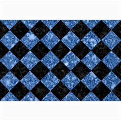 Square2 Black Marble & Blue Marble Collage 12  X 18  by trendistuff