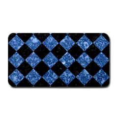 Square2 Black Marble & Blue Marble Medium Bar Mat by trendistuff