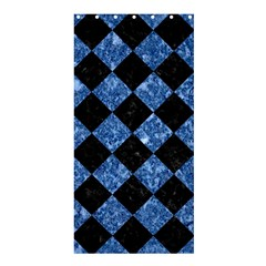 Square2 Black Marble & Blue Marble Shower Curtain 36  X 72  (stall) by trendistuff