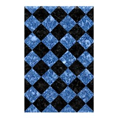 Square2 Black Marble & Blue Marble Shower Curtain 48  X 72  (small) by trendistuff