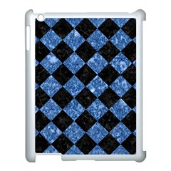 Square2 Black Marble & Blue Marble Apple Ipad 3/4 Case (white) by trendistuff