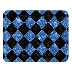 Square2 Black Marble & Blue Marble Double Sided Flano Blanket (large) by trendistuff