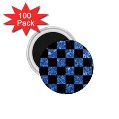 SQR1 BK-BL MARBLE 1.75  Magnets (100 pack)  by trendistuff