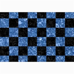 Square1 Black Marble & Blue Marble Collage 12  X 18  by trendistuff