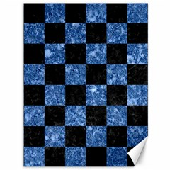 Square1 Black Marble & Blue Marble Canvas 36  X 48  by trendistuff