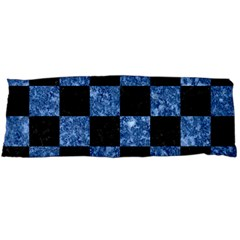Square1 Black Marble & Blue Marble Body Pillow Case (dakimakura) by trendistuff