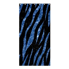 Skin3 Black Marble & Blue Marble (r) Shower Curtain 36  X 72  (stall) by trendistuff