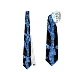 Skin2 Black Marble & Blue Marble (r) Necktie (one Side)