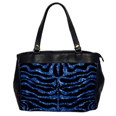 Skin2 Black Marble & Blue Marble (r) Oversize Office Handbag by trendistuff
