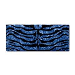 Skin2 Black Marble & Blue Marble Hand Towel by trendistuff
