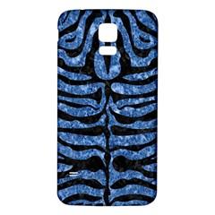Skin2 Black Marble & Blue Marble Samsung Galaxy S5 Back Case (white) by trendistuff