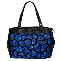 Skin1 Black Marble & Blue Marble (r) Oversize Office Handbag by trendistuff