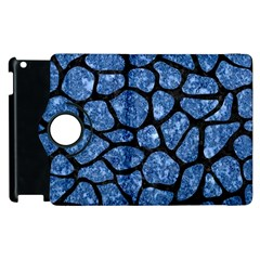 Skin1 Black Marble & Blue Marble (r) Apple Ipad 2 Flip 360 Case by trendistuff