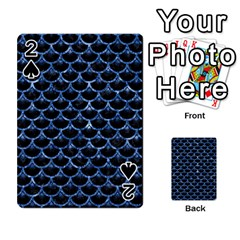 Scales3 Black Marble & Blue Marble (r) Playing Cards 54 Designs