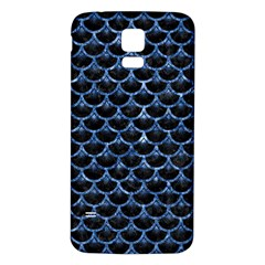 Scales3 Black Marble & Blue Marble (r) Samsung Galaxy S5 Back Case (white) by trendistuff