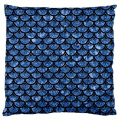 Scales3 Black Marble & Blue Marble Standard Flano Cushion Case (two Sides) by trendistuff