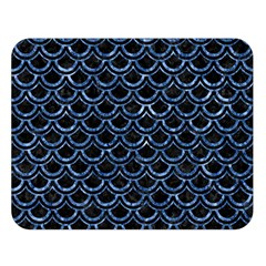 Scales2 Black Marble & Blue Marble (r) Double Sided Flano Blanket (large) by trendistuff