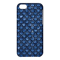Scales2 Black Marble & Blue Marble Apple Iphone 5c Hardshell Case by trendistuff