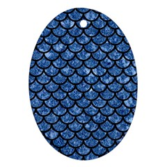 SCA1 BK-BL MARBLE Ornament (Oval)  by trendistuff