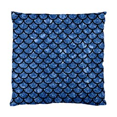 Scales1 Black Marble & Blue Marble Standard Cushion Case (one Side) by trendistuff