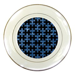 Puzzle1 Black Marble & Blue Marble Porcelain Plate