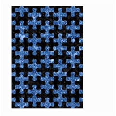 Puzzle1 Black Marble & Blue Marble Large Garden Flag (two Sides) by trendistuff