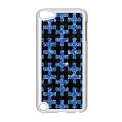Puzzle1 Black Marble & Blue Marble Apple Ipod Touch 5 Case (white) by trendistuff