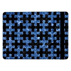 Puzzle1 Black Marble & Blue Marble Samsung Galaxy Tab Pro 12 2  Flip Case by trendistuff