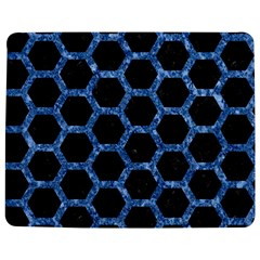 Hexagon2 Black Marble & Blue Marble (r) Jigsaw Puzzle Photo Stand (rectangular)