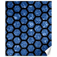 Hexagon2 Black Marble & Blue Marble Canvas 8  X 10  by trendistuff