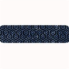 Hexagon1 Black Marble & Blue Marble (r) Large Bar Mat by trendistuff