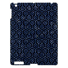 Hexagon1 Black Marble & Blue Marble (r) Apple Ipad 3/4 Hardshell Case