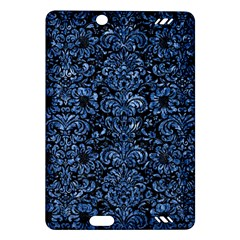 Damask2 Black Marble & Blue Marble (r) Amazon Kindle Fire Hd (2013) Hardshell Case by trendistuff