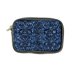 Damask2 Black Marble & Blue Marble Coin Purse by trendistuff