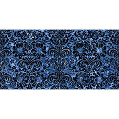 Damask2 Black Marble & Blue Marble You Are Invited 3d Greeting Card (8x4) by trendistuff