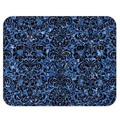 Damask2 Black Marble & Blue Marble Double Sided Flano Blanket (medium) by trendistuff