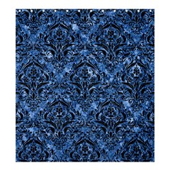 Damask1 Black Marble & Blue Marble (r) Shower Curtain 66  X 72  (large) by trendistuff