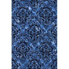 Damask1 Black Marble & Blue Marble (r) 5 5  X 8 5  Notebook by trendistuff