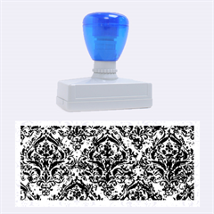 DMS1 BK-BL MARBLE (R) Rubber Stamps (Large) by trendistuff