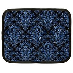 Damask1 Black Marble & Blue Marble Netbook Case (xxl) by trendistuff